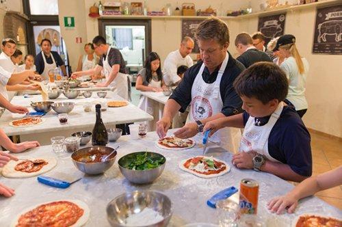 Aula de Culinária de Pizza e Gelato
