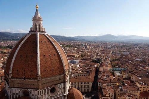 Die Kathedralenanlage und die Kuppel von Brunelleschi