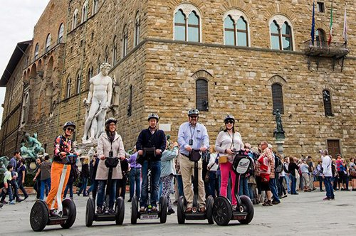 Group guided tour of Florence by Segway