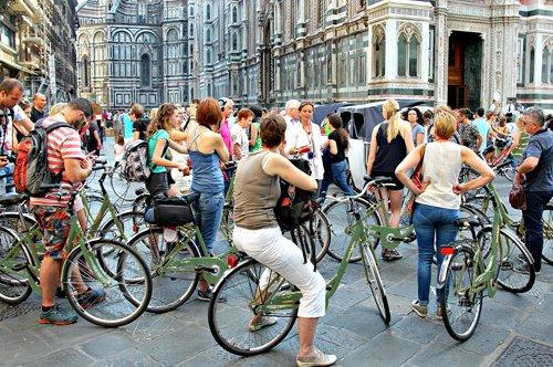 Gruppenführung mit dem Fahrrad durch Florenz