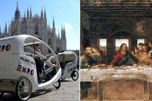Milan Rickshaw tour and Last Supper entrance ticket