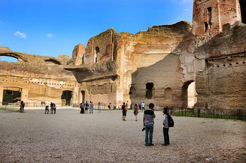 Thermes de Caracalla en 4D – visite avec réalité virtuelle + Plan de Rome