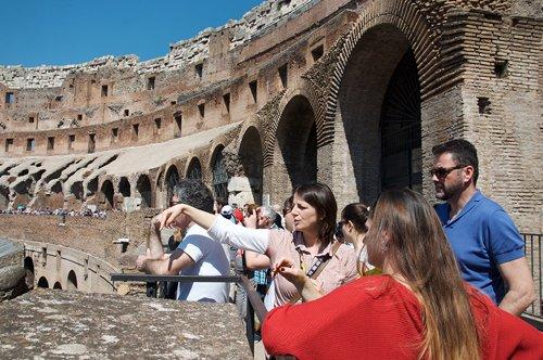 Tour guidé de groupe au Colisée + Plan de Rome