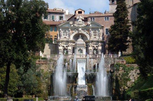 Tivoli, Villa d'Este et Villa Adriana - départ de Rome