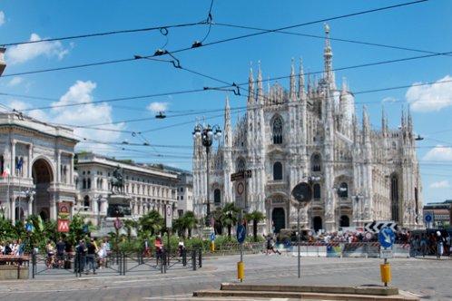 Entrada a la catedral de Milán