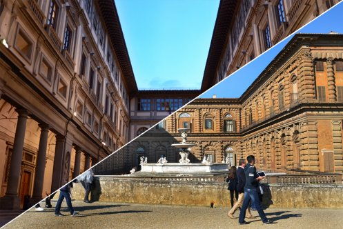 Combined entry for the Uffizi Gallery and the Pitti Palace: priority entrance